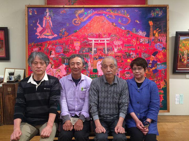 独立美術協会の先生方が斎藤吾朗アトリエにいらっしゃいました