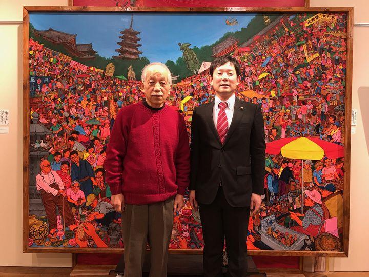 『第21回 斎藤吾朗アトリエ展』最終日 中村健西尾市長にお越しいただきました。