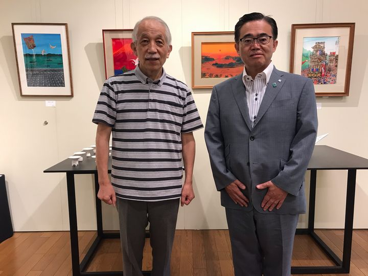 『斎藤吾朗 水彩画展/加藤好康 作陶展』最終日