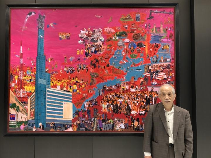 中京テレビ放送の新社屋に斎藤吾朗の作品が収まりました